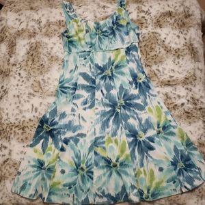 Sleeveless Floral Midi Dress